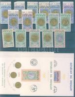 1965 Paraguayi pénzek és érmék + olimpiai érmek Mi 1408-1415+1417-1424 + blokk 67II-68II
