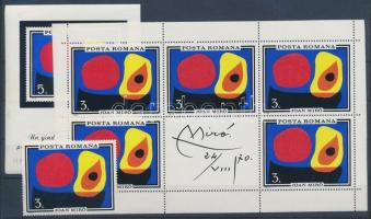 Painting stamp + mini sheet + block, Festmény bélyeg + kisív + blokk