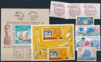 1983-1984 UPU Congress 8 stamps + 2 blocks, 1983-1984 UPU Kongresszus 8 klf bélyeg + 2 klf blokk