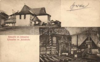 Késmárk, Kezmarok; Evangélikus fatemplom, belső / wooden church, interior