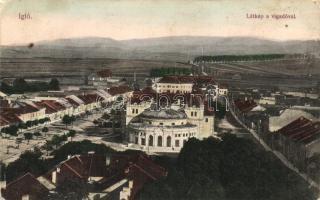 Igló, Iglau; látkép a vigadóval / panorama view with redoute (EB)