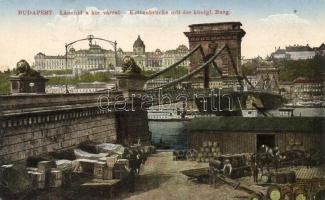 Budapest, Lánchíd, rakpart