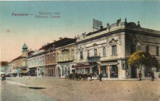 Pancsova, Pancevo; Rákóczi út, Horovitz Adolf és fia üzlete; kiadja Horovitz könyvkereskedés / street, printing shop (EK)