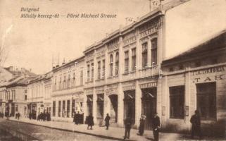 Belgrade, Mihály herceg út / Fürst Michael Strasse / street, Grand Hotel Paris (EK)
