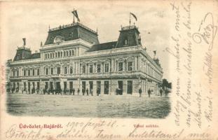 Baja, Városi székház, Diamant Lajos és Fischer Béla üzlete, kiadja Kollár A.