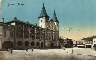 Zsolna, Zilina; Fő tér, kiadja Biel L. / main square