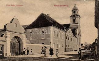Kézdivásárhely, Targu Secuiesc; Római katolikus templom, Turóczi István kiadása / catholic church (EB)