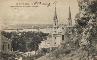 Esztergom, Mária Valéria híd, vízivárosi templom, kiadja Kardos Dezső (EK)