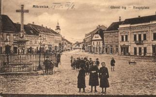Szávaszentdemeter, Sremska Mitrovica; Főtér, Verlag Isidor Weiss / main square, shops (EB)