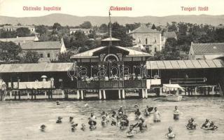 Crikvenica, Tengeri fürdő, kiadja Magazin Miramare Gönczi / Obcinsko kupaliste / spa (EK)