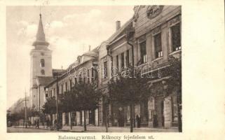 Balassagyarmat, Rákóczi fejedelem út, könyvnyomda; Wertheimer Zsigmond kiadása (gyűrődés / slight crease)