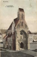 Kassa, Kosice; A helyreállított Szent Mihály kápolna, kiadja Divald K. Fia / chapel (EK)