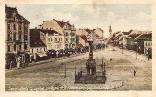 Szombathely, Erzsébet királyné út, Szentháromság szobor, Weltner S. üzlete (EK)