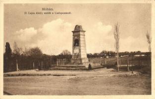 Mohács, II. Lajos király emlék a Csele pataknál (EB)