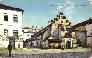 Eperjes, Presov; Karaffa börtön, csemege üzlet, kiadja Molnár Jenő / Karaffa prison, shop (EK)