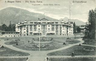 Ótátrafüred, Stary Smokovec; Nagyszálló, kiadja Kertész Tódor / Grand Hotel