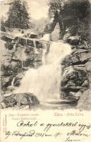 Tátra, Magas Tátra, Vysoké Tatry; Nagy tarpataki vízesés, kiadja Stengel / waterfall (EK)