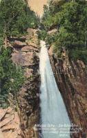Tátra, Magas Tátra, Vysoké Tatry; Nagy tarpataki vízesés, kiadja Divald és Monostory / waterfall (ázott / wet damage)