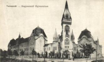 Temesvár, Timisoara; Kegyesrendi főgimnázium / grammar school (EK)