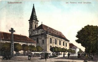 Székesfehérvár, Szent Ferenc rendi templom, piac (ázott sarok / wet corner)