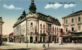 Kolozsvár, Cluj; New York szálloda, Schuster Emil üzlete, kiadja Rigó Árpád utóda / hotel, shop
