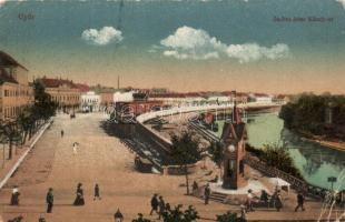 Győr, Zechmeister Károly út, vasúti végállomás, vonat (EB)