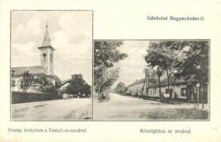 Nagyszénás, Evangélikus templom, Templom utca, Községháza