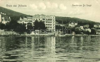 Abbázia, Abbazia, Opatija; Dr. Szegő szanatórium / sanatorium (EB)