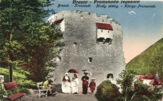 Brassó, Kronstadt; Király sétány / Königs-Promenade