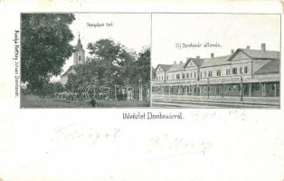 Dombóvár, Újdombóvár; vasútállomás, Templom tér; kiadja Rotkay István (b)