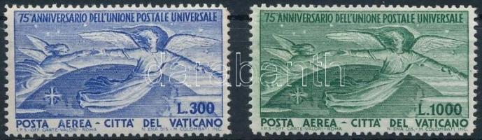 1949 75 éves az UPU sor Mi 161-162 (elsárgult gumi, törés / yellowish gum, fold)