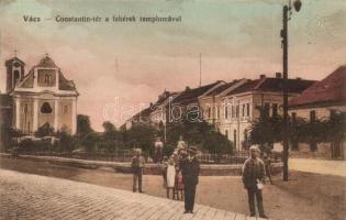 Vác, Constantin tér, fehérek temploma