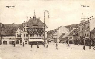 Segesvár, Schässburg, Sighisoara; Vásártér, Josef Girscht üzlete / market, shop (fa)
