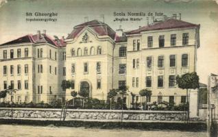 Sepsiszentgyörgy, Sfantu Gheorghe; Regina Mária leányiskola, kiadja Benkő Mór / girl school (EK)
