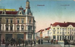 Kaposvár, Kossuth tér, Erzsébet Szálloda, kiadja Szabó Lipót