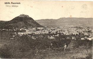 Déva, Deva;Látkép, vár / general view, castle (EB)