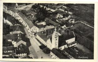 Csáktornya, Cakovec; Látkép, templom, kiadja Franjo Jagic / general view, church, Csáktornya visszatért So. Stpl.