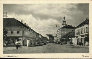 Csáktornya, Cakovec; Fő utca, kiadja Benkő István / street (EK)