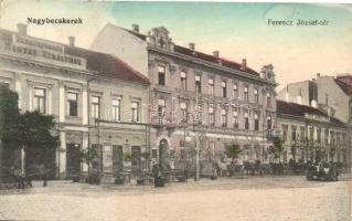 Nagybecskerek, Zrenjanin; Ferenc József tér, vendégfogadó a magyar királyhoz, kiadja Stelinger Márk / square, hotel (EK)