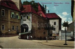 Nagyszeben, Hermannstadt, Sibiu; Városháza, kiadja Emil Fischer / town hall (EK)