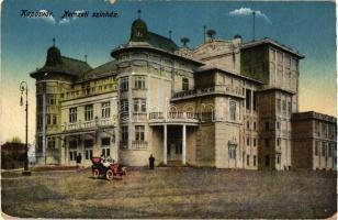 Kaposvár, Nemzeti színház, automobil (kopott sarkak / worn corners)