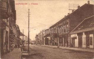 Kaposvár, Főutca, Prekop János fogműterme, kiadja Szabó Lipót (ázott / wet damage)