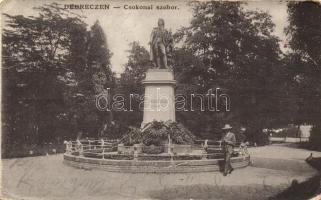 Debrecen, Csokonai Vitéz Mihály szobor, kiadja W. L. (Rb)