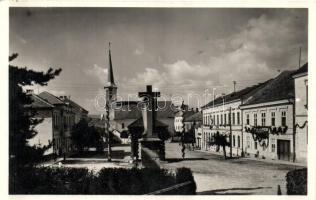 Székelyudvarhely, Odorheiu Secuiesc; Látkép, református templom, kiadja Soha Aladár / general view, church