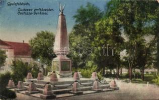 Gyulafehérvár, Karlsburg, Alba Iulia; A custozai ütközet emlékoszlopa / Prussian-Italian-Austrian war monument (r)