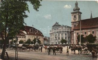 Nagyszeben, Hermannstadt, Sibiu; Nagykörút, templom / boulevard, church (EK)