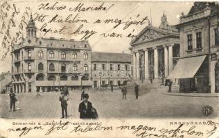 Nagyvárad, Oradea; Bémer tér, Szigligeti színház / square, theatre (fa)