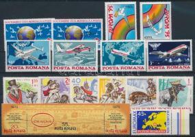 1965-1995 15 stamps + stripe of 3, 1965-1995 15 klf bélyeg + hármascsík