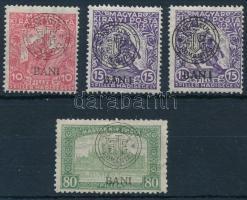Kolozsvár 1919 4 db bélyeg lemezhibákkal / Mi 23-24 I, 39 I with plate varieties. Signed: Bodor