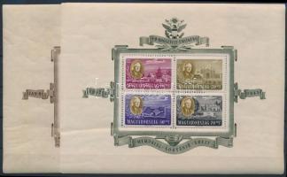 1947 Roosevelt blokkpár (50.000) (törések, ráncok / creases, folded)